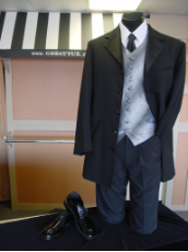 Andrew Fezza 5 Button Tuxedo Package - Used Rental Garments