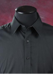 Black Microfiber Tux Shirt - New