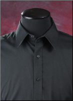 Black Microfiber Laydown Shirt - Used Rental Garment