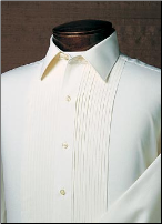 Ivory Laydown Tuxedo Shirt - Used Rental Garment